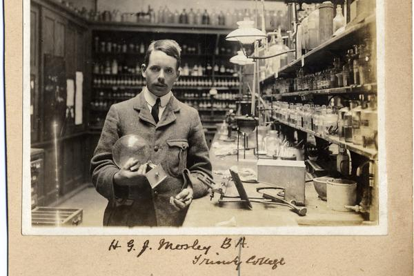 Moseley in his Laboratory - (c) The Museum of the History of Science