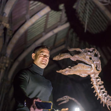 steve backshall at oumnh by scott billings