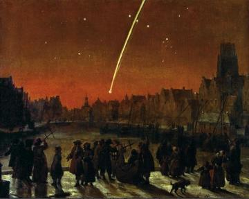 the great comet over rotterdam december 26 1680 by lieve verschuier historisch museum amersterdam